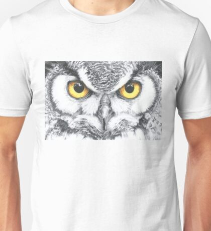 Horned billed owl Unisex T-Shirt