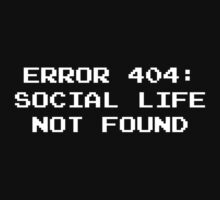 404 Error : Social Life Not Found by DesignFactoryD
