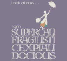 Mary Poppins - Supercalifragilisticexpialidocious v2 Kids Tee