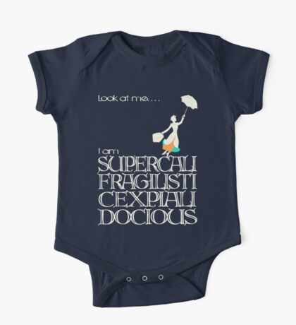 Mary Poppins - Supercalifragilisticexpialidocious v2 One Piece - Short Sleeve