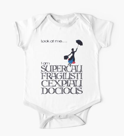 Mary Poppins - Supercalifragilisticexpialidocious One Piece - Short Sleeve