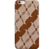 Masculine Modern Pattern in Brown and Beige iPhone Case/Skin