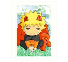 chibi Naruto Art Print