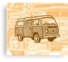 Brown Bay Campervan Dub-U (please see description) Canvas Print