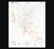 USGS TOPO Map Arizona AZ Tombstone 20120113 TM Unisex T-Shirt