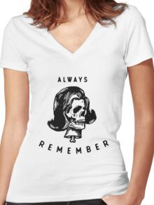 Always Remember Women's Fitted V-Neck T-Shirt