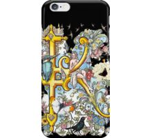 The Illustrated Alphabet Capital K (Fuller Bodied) iPhone Case/Skin