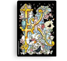 The Illustrated Alphabet Capital K (Fuller Bodied) Canvas Print