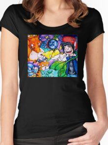 pokemon on acid Women's Fitted Scoop T-Shirt