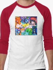 pokemon on acid Men's Baseball ¾ T-Shirt