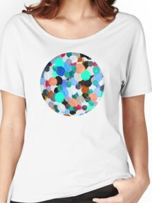 Aqua Rainbow Paint Drops Women's Relaxed Fit T-Shirt