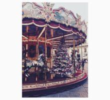 Vintage Christmas Carousel  Kids Tee