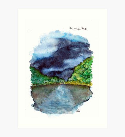 Am wilden Fluss (The River Wild) Art Print