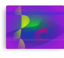 Yellow and Purple Abstract Composition Canvas Print