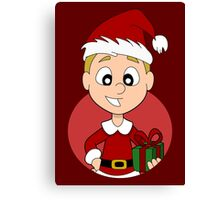 Christmas boy cartoon Canvas Print