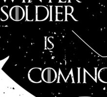Winter Soldier is Coming Sticker