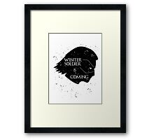 Winter Soldier is Coming Framed Print