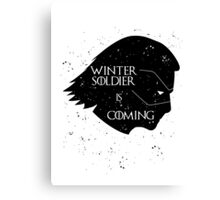 Winter Soldier is Coming Canvas Print