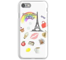Favourite Things iPhone Case/Skin