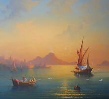 The Bay Of Naples by Raymond Gilronan