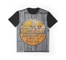 Old Grosmont Wales, Automobile Billboard, enamelled   Graphic T-Shirt