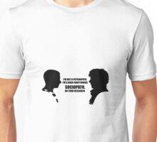 Sherlock Holmes: I'm a Sociopath Unisex T-Shirt