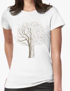 Digital Tree Womens Fitted T-Shirt