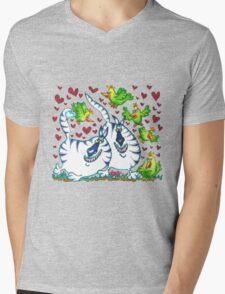 Lovebirds Mens V-Neck T-Shirt
