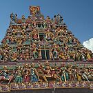 Sri Mariamman Tower by phil decocco