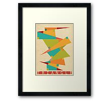 TRI.GON.OME.TRY Framed Print