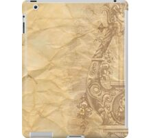 Rustic,crumbled,parchment paper,old,worn,grunge,vintage,victorian,reproduction iPad Case/Skin
