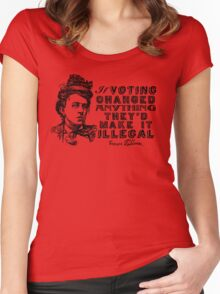 Emma Goldman On Voting Women's Fitted Scoop T-Shirt