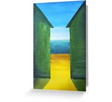 Glimpse through the beach huts Greeting Card