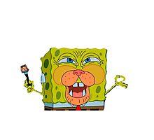 Spongebob Cat Photographic Print