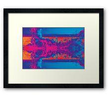 Crashing Waves Abstract Framed Print