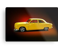 1950 Ford Coupe 'Studio Red' Metal Print