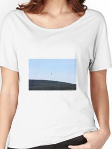 Hawks flight over forestry Women's Relaxed Fit T-Shirt