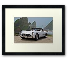 1953 Chevrolet Classic Corvette Roadster Framed Print