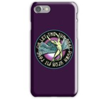 ICARUS THROWS THE HORNS - violet kashmir iPhone Case/Skin