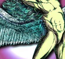 ICARUS THROWS THE HORNS - violet kashmir Sticker