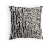 Tree Bark Background Texture Throw Pillow