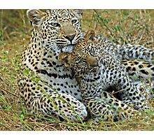 Motherly love!(This is so cuddly!) Photographic Print