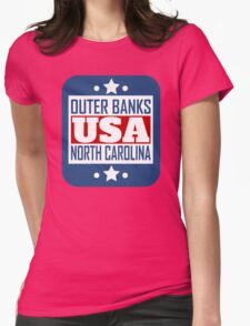 Outer Banks North Carolina USA Womens Fitted T-Shirt