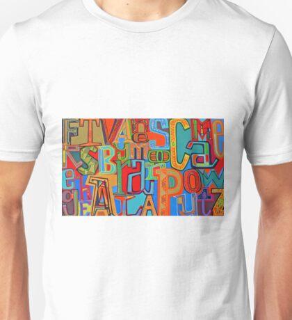 Colourful Alphabet Wall Arts Unisex T-Shirt