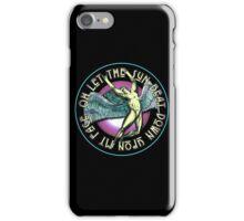 ICARUS THROWS THE HORNS - purple kashmir iPhone Case/Skin