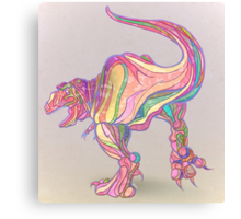 Rainbow Rex Canvas Print