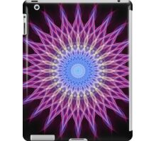 Lightning mandala in pink, blue and yellow pastel tones iPad Case/Skin