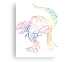 REVERSE RAINBOW REX Canvas Print