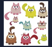 Cute cartoon cats,super girly,kawaii,trendy,modern,colorful Kids Tee