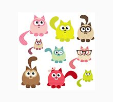 Cute cartoon cats,super girly,kawaii,trendy,modern,colorful Women's Fitted V-Neck T-Shirt